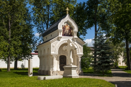 Old Orthodox chapel of white stone