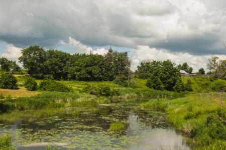 River landscape in summer Stock Photo - 16709403
