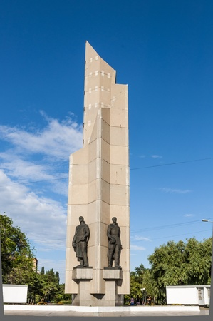 Memorial to the soldiers of World War II