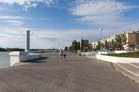 Granite embankment Irtysh in Omsk