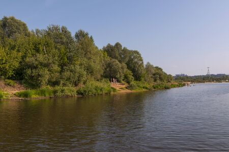 River bank with trees photo