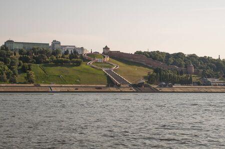 View of Nizhny Novgorod on the river