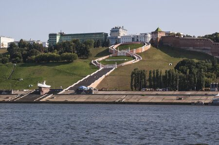 View of Nizhny Novgorod on the river