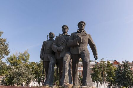 Monument to Russian sailors Stock Photo