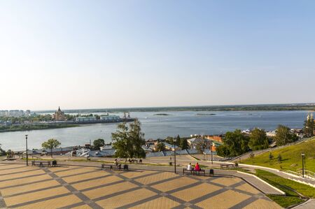 multi national: Nizhny Novgorod view Stock Photo