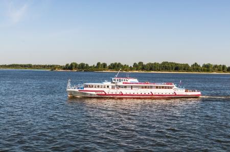 Pleasure boat on the river Stock Photo - 16778694