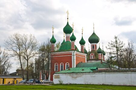 russian orthodox: Ancient Russian Orthodox church in the city of Pereslavl Stock Photo