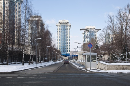 Modern residential area in Moscow photo