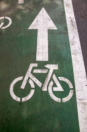 bike path with markings