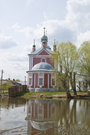 Orthodox church is located on the shore of Lake