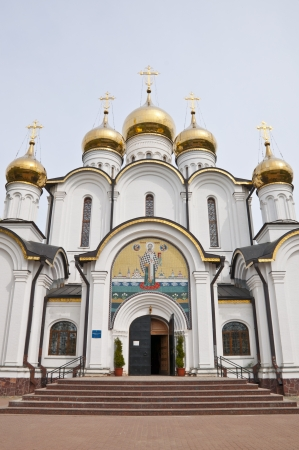 Ancient Orthodox Church in Russia Stock Photo