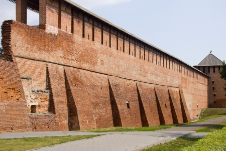 Ancient fortress of Kolomna Kremlin in Russia