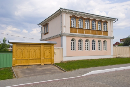 Traditional old wooden house in Russian province