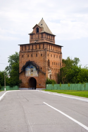 Tower of old castle in Russia Editorial
