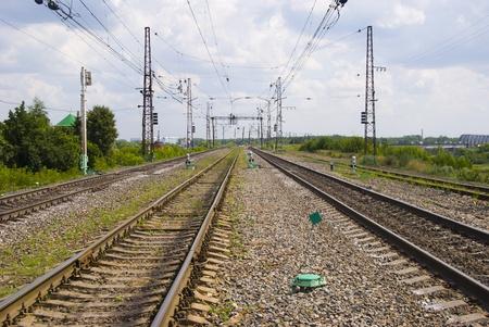 receding: railroad, receding into the distance