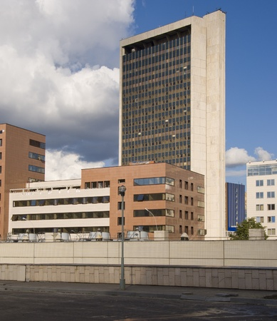 Modern office block in Moscow Stock Photo
