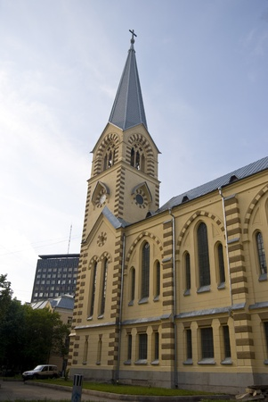 old Lutheran church in Moscow photo