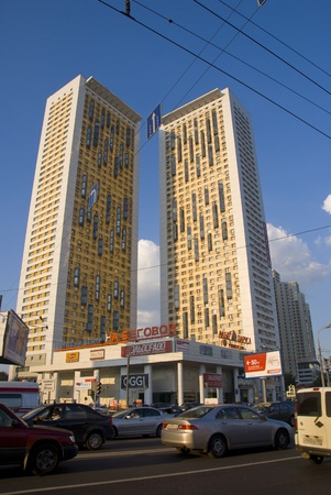 Modern buildings in Moscow Stock Photo - 17262068