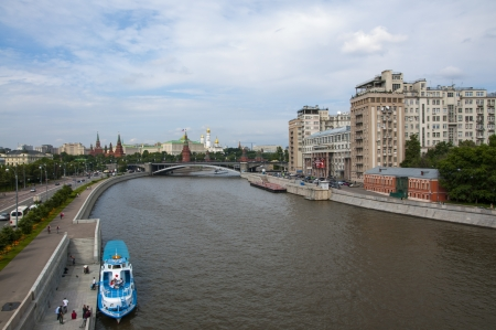 Pleasure boat on the Moscow River Stock Photo - 17585896