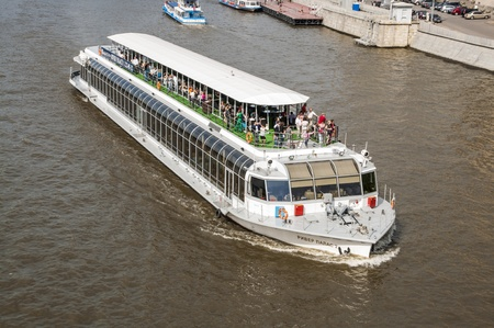 Pleasure boat on the Moscow River Stock Photo - 17585893