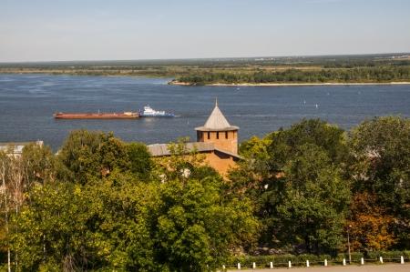 View of the center of Nizhny Novgorod Stock Photo