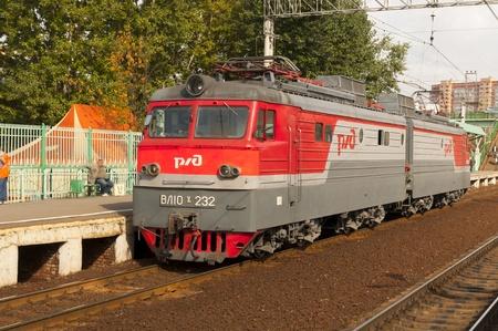 Russian cargo locomotive