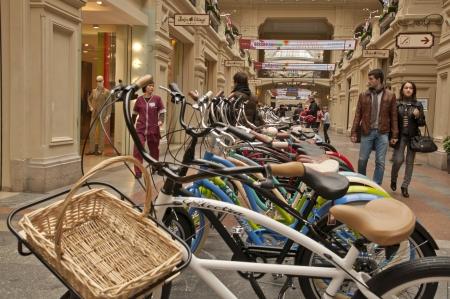 Bikes in a shop window Stock Photo - 17554620