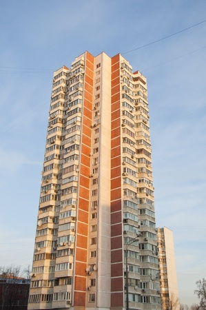 modern high-rise apartment building Stock Photo - 17654256