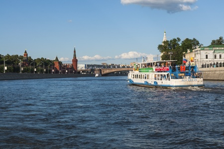 Moscow river and the embankment of the Moscow Kremlin