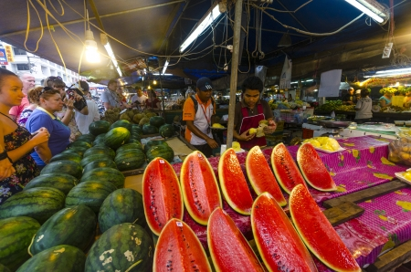 Fruit market in Krabi  Thailand