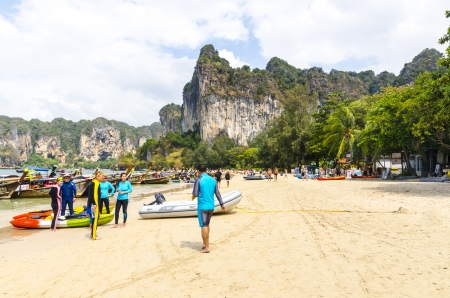 Beach Peninsula Railey Krabi Thailand Stock Photo - 18451095