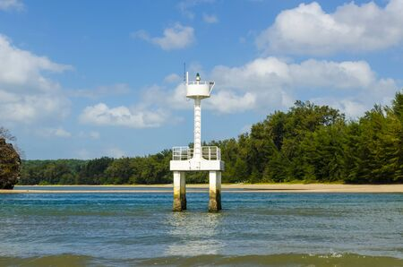 Small lighthouse at the port on the Strait of Paraty  Krabi Thailand photo