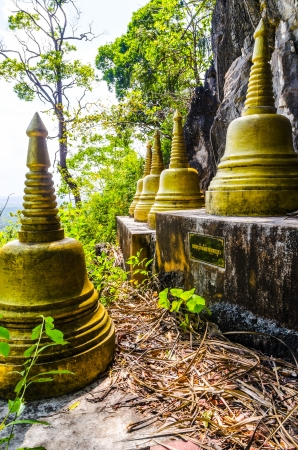 sculpted stupa in Buddhist monasteries  Thailand