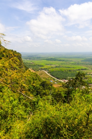 Thailand View of the fields and mountains of Krabi from the mountain cave monastery tiger Stock Photo - 18804603