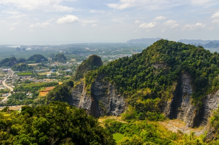 view from the top of a hill at Krabi Thailand Stock Photo