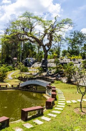 Urban Garden in Krabi Town Thailand Stock Photo