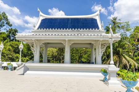 Buddhist temple in the White Dragon Town Krabi Thailand photo