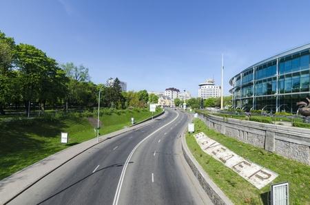 Streets in the center of Kiev. Ukraine