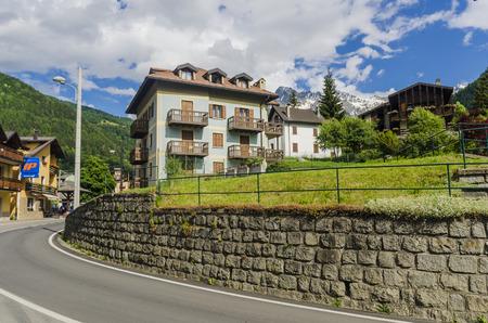 Alpine town of Ponte di Legno, Italy Editorial
