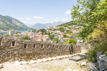 Ancient castle in the Balkan Mountains in the town of Kotor Montenegro Editorial
