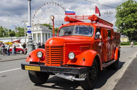 rusty car: Historical retro truck Soviet Russian production