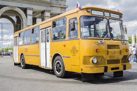 Old Russian passenger bus of the Soviet period