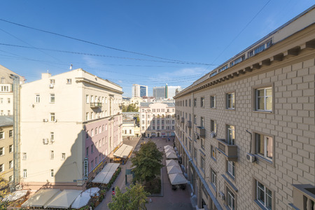 View of the streets of old Moscow top