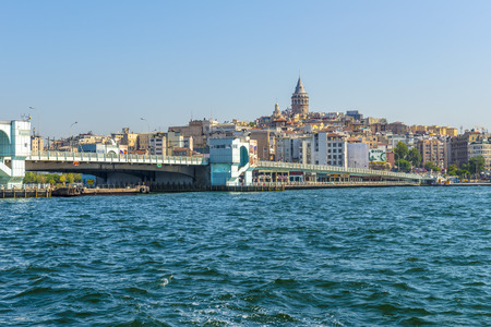 Passenger ship in the background Istanbul