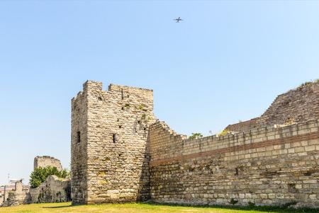 City walls of Emperor Theodosius. Istanbul