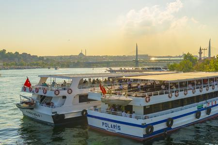 passenger ships: Passenger ships in the Golden Horn Istanbul. Turkey Editorial