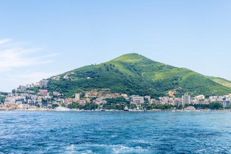 winter blues: Montenegro beach resort of the Adriatic Sea