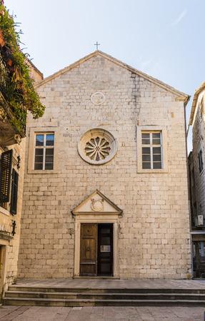 Ancient Orthodox stone church in Kotor, Montenegro Stock Photo