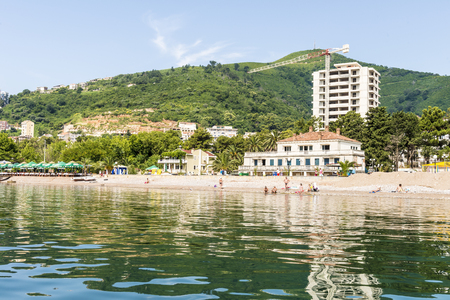 bird s house: Riviera Beach and the beach in the Adriatic Sea near Budva. Montenegro.
