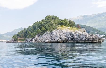 winter blues: Stony shore of the Adriatic Sea